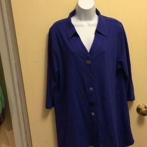 Soft Surroundings blouse size XLarge blue